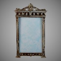 19th C Napoleon III Gilt Metal French Photo Frame
