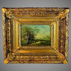 French School Barbizon Style Oil Painting