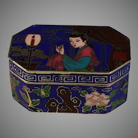 Early Signed Japanese Cloisonne Box