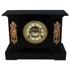 Antique Ansonia Iron Mantle Clock ~ Just Serviced