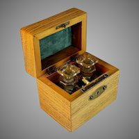 Ash Wood Perfume Caddy Box with Contents