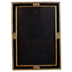 Antique Gilded Brass and Glass Photo Frame