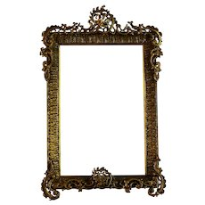 Antique B. Kaufmann Fine Arts Bronze Photo Frame