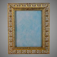 Vintage Gilded Bronze Photo Frame with Easel