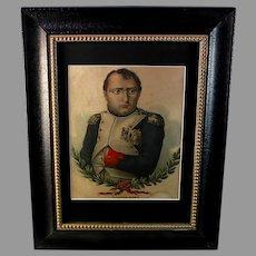 19th Century Napoleon Bonaparte Colored Engraving