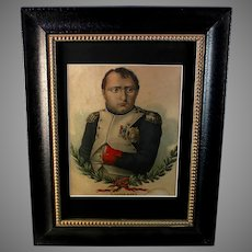 19th Century Napoleon Bonaparte Colored Engraving