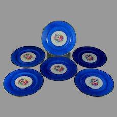 "Limoges Bernardaud & Co Dinner Plates 10 3/4"" Set of 6"