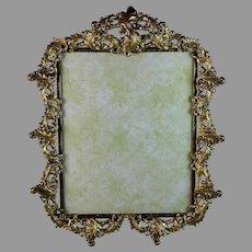 """Antique Gilt Bronze Photo Frame 14 1/2"""" by 11"""""""