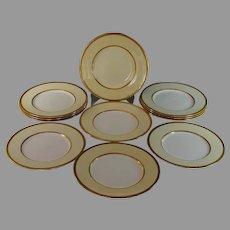 Mintons Davis Collamore Gold Encrusted Salad Plates Excellent Set of 10 plus one