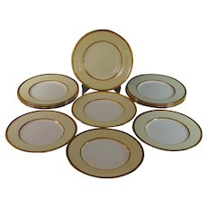 Mintons Davis Collamore Gold Encrusted Salad Plates Excellent Set of 10 plus one