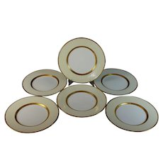 Mintons Gold Encrusted Dinner Plates Excellent Set of 6