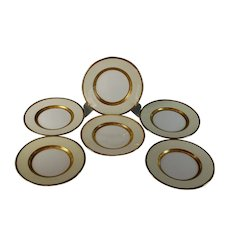 Mintons Gold Encrusted Bread Plates Excellent Set of 6