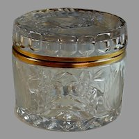 Antique Clear and Frosted Cut Glass and Ormolu Box Casket