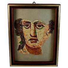 Roman Style Mosaic Panel depicting Roman Head