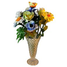 Cheerful Collection of Porcelain Flowers in Vase, Spring Colors