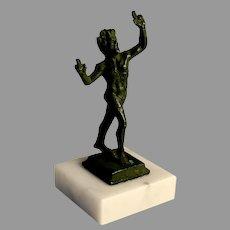 Grand Tour Bronze of the Dancing Faun, Pompeii