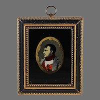 Napoleon III Eglomise Miniature Portrait of Napoleon Bonaparte