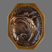French Bronze Vide Poche Card Tray Mermaid