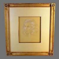 Mixed Media Portrait Painting by listed artist Diane Scott