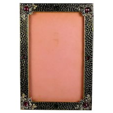 Antique Jeweled Photo Picture Frame, Cabochons