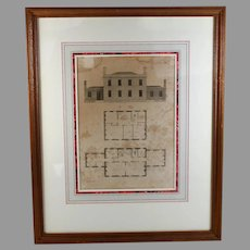 1800's Architectural Print The American builders Companion Benjamin Asher Plate 54