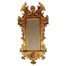 Antique Gilded Wood Figural Mirror