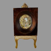 Grand Tour Porcelain Hand Painted Miniature Plaque A