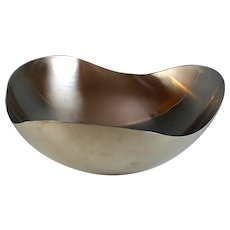 Large George Jensen Design Helle Damkjaer Stainless Steel Mirror Bowl