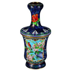 Early 20th C Chinese Cloisonne Flower Vase