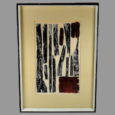 """Mid-Century Artist Proof Lithograph titled """"bois sec"""" (dry wood) by Gregor"""