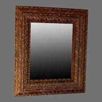 Vintage Mirror with Ornate Gilt Wood Frame