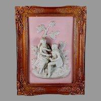 Alt Meissen Art Dresden Relief Plaque of Couple