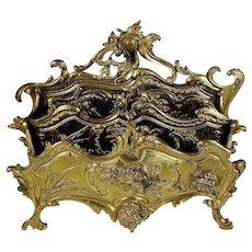 Vintage Guerin Gilded Bronze Letter Holder Stand
