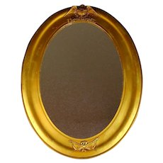 Unusual Vintage Gilt Wood Federal Style Mirror with Eagle and USA