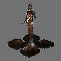 Art Nouveau Bronze Sculpture of a Young Lady by Pierre Regnier