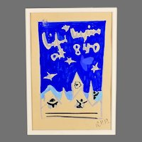 Vintage Original mixed media painting by Raoul Pene  Du Bois: Life Begins at 8.40 B