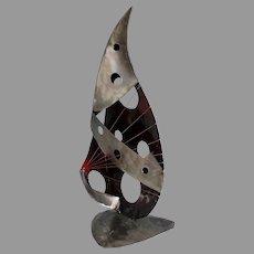 Stuart Peterman Metal Abstract Sculpture, signed
