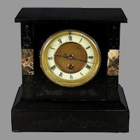 Antique 8 Day French Mantle Clock, Just Serviced