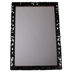 Antique Hand Carved Chinese Frame with Mirror