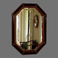 Vintage Octagonal Wood and Gesso Mirror