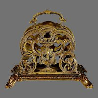 Antique French Gilded Bronze Letter Holder Stand