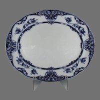 """Large Vintage Flo Blue Hawksley Serving Platter 18 1/2"""" x 15"""""""