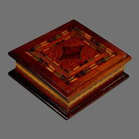 Authentic Arts & Crafts Inlaid Wood Box United Brotherhood of Carpenters Joiners of America