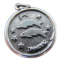 Vintage Sterling Silver Pisces Fish Charm
