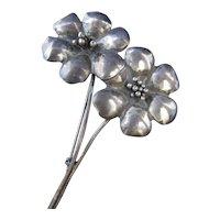 Vintage Coro Sterling Silver Sterlingcraft 40s 1940s Flower Pin