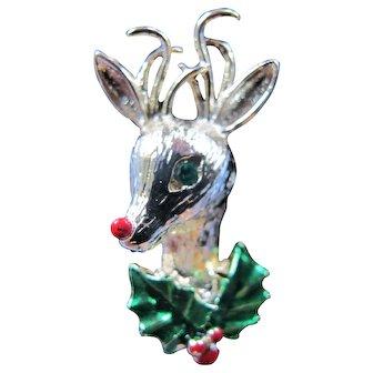 Vintage Gerry's Rudolf Reindeer Christmas Pin