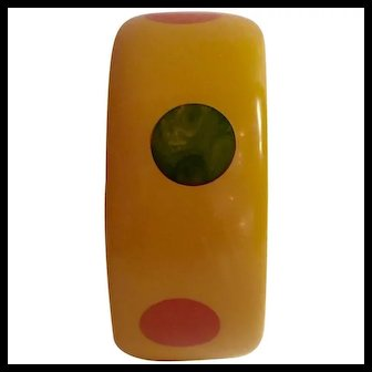 1930s Bakelite Multi Color Polka Dot Bangle Bracelet
