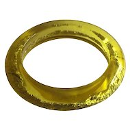 1960s Gold Leaf Foil Embedded Acrylic Apple Juice Bangle Bracelet