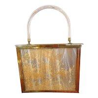 Acrylic Hard Body Plastic Purse Handbag 1950s