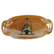1920s Art Deco Japanese Lusterware NORITAKE Porcelain Celery Dish